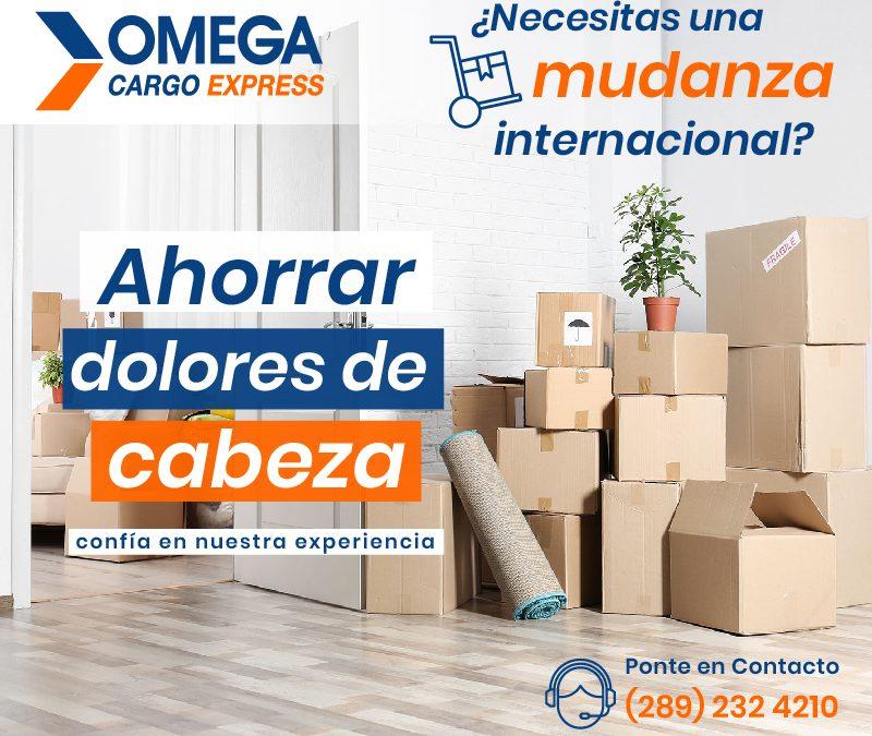 Mudanza internacional con Omega Cargo Express